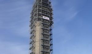 echafaudage sur clocher